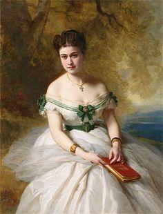Marie Marguerite Ada Calhoun by Franz Xaver Winterhalter, 1867