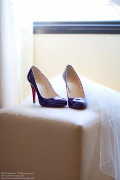 Sapato de noiva colorido - azul