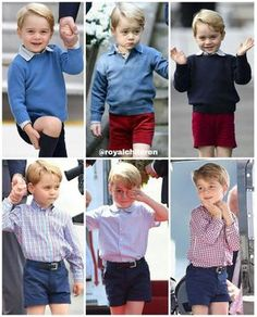 """1,852 Likes, 8 Comments - European Royal Families (@royalchildren) on Instagram: """"Prince George's outfits during the Royal Tour of Canada in September and October 2016 and during…"""""""