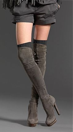 Gucci suede over the knee boots. Pinned by http://pinkp.ad Issues and Inspiration on Womens Fashion Follow us and enjoy http://pinterest.com/ifancytemple