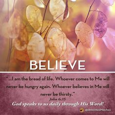 God speaks to us daily through His Word! John 6:15