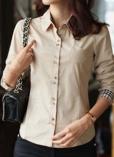 Latest fashion trends in women's Blouses. Shop online for fashionable ladies' Blouses at Floryday - your favourite high street store. Latest Fashion Trends, Blouses For Women, Style Inspiration, Lady, Long Sleeve, Casual, Cotton, Shirts, Shopping