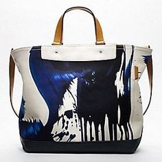James Nares Tote by Coach: Also available in green, orange, pink and black. #Tote #Coach #James_Nares
