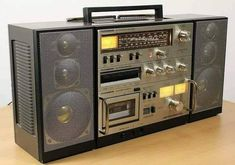 Telefunken Hifi Studio 1 M Radios, Recording Equipment, Phone Screen Wallpaper, Retro, Transistor Radio, Tape Recorder, Hifi Audio, Shelf Design, Boombox