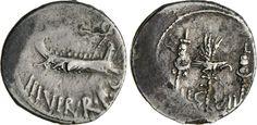 NumisBids: Numismatica Varesi s.a.s. Auction 65, Lot 117 : MARC'ANTONIO (32-31 a.C.) Denario, leg. VII. B. 113 Syd. 1224 ...