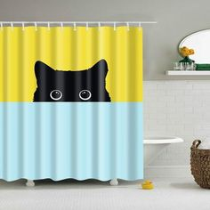 cute lovely cat printed shower curtain drop shipping various sizes Animal custom Shower Curtain Bathroom decor Pineapple Shower Curtain, Flamingo Shower Curtain, Funny Shower Curtains, Custom Shower Curtains, Bathroom Shower Curtains, Fabric Shower Curtains, Home Accessories, Kitten, Eco Friendly