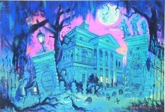 haunted mansion lithograph