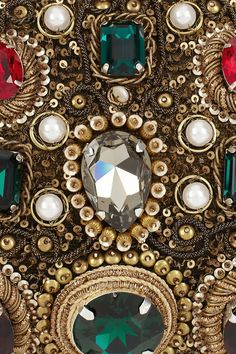 Dolce & Gabbana Jewel and pearl-embellished clutch (detail)