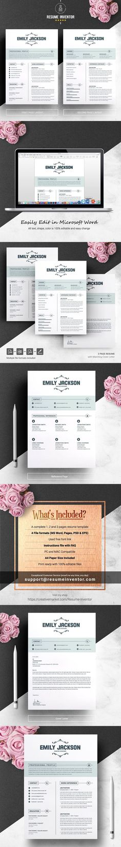 Resume Template CV Template 5 Page Resume Design Pinterest - resume 5 pages