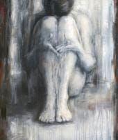 Schilderij Yin van Evelyn Hamilton Hamilton, Statue, People, Painting, Art, Art Background, Painting Art, Kunst, Paintings