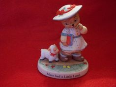 Bronson Collectibles Nursery Rhyme Bears Mary Had a Little Lamb Figurine by SashaAzreal on Etsy