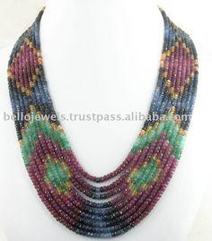 Source Designer ruby emerald sapphire Necklace Calgary on m.alibaba.com