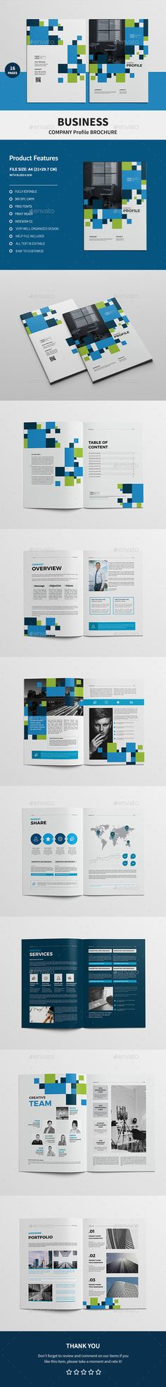 Company Profile 16 Pages 19770700 InDesign Template Pinterest