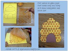 Bubble Wrap Bee Hive! Won't pay for it but love this idea I think I can do it myself especially since hailey is too little for writing projects