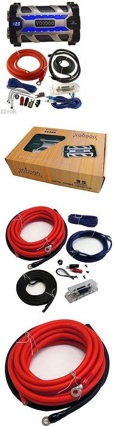 capacitors stinger shc5115 cap hybrid digital 15 farad amplifier capacitors voodoo 35 farad digital power capacitor black chrome 4 awg gaug amp kit 17ft
