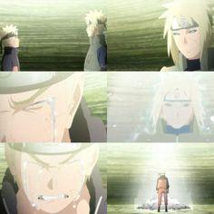 Melhor pai do animê Naruto,mesmo não estando vivo,quando ele foi reanimado,e o jutsu estava se desfazendo,ele demostra ter muito amor pelo filho e também deseja feliz aniversário,e seu filho diz pra falar pra sua mãe do outro lado que ela não precisa se preocupar com ele porque,ele diz ficará bem,ouvindo isso seu pai vira luz e desaparece,antes de sumir ele diz que contará tudo isso a sua mãe.