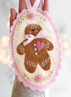Gingerbread girl Christmas felt ornament, perfect for baby's first Christmas or granddaughter. Gingerbread girl Christmas felt ornament, perfect for baby's first Christmas or granddaughter. Handmade Christmas Decorations, Felt Decorations, Diy Christmas Gifts, Homemade Christmas, Homemade Decorations, Christmas Christmas, Christmas Ideas, Xmas, Preschool Christmas