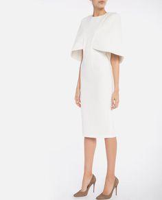 Cape Midi Dress | AQ/AQ | MELIE