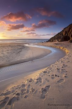 Porthcurno Curves, Cornwall UK by antonyspencer, via Flickr