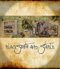 Blacksmith and Stable by ladnamedfelix on @DeviantArt