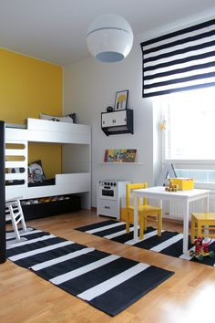 24 Childrens Room to Make Easier for Them to Play and Learn - TopDesignIdeas Boy Toddler Bedroom, Boys Bedroom Decor, Toddler Rooms, Baby Boy Rooms, Shared Bedrooms, Guest Bedrooms, Scandinavian Kids Rooms, Cool Kids Rooms, Kids Room Design
