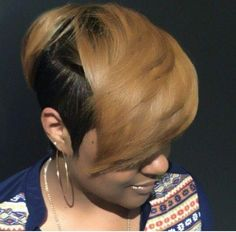 28 Beautiful Ideas of Short Colored Hair!Owners of short hairstyles can diversify and refresh podnadoevshuyu styling, using melirovanie on short hair. Cute Hairstyles For Short Hair, My Hairstyle, Undercut Hairstyles, Weave Hairstyles, Black Hairstyles, Haircuts, Short Punk Hair, Short Hair Undercut, Short Hair Cuts