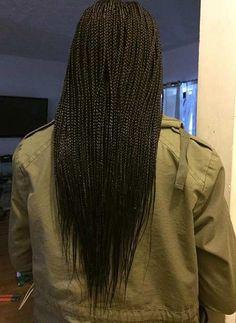 Long Micro Braids Hairstyle