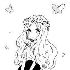Ideas For Drawing Cute Anime Manga Girl Anime Chibi, Lineart Anime, Manga Anime, Anime Drawings Sketches, Anime Sketch, Kawaii Drawings, Kawaii Art, Kawaii Anime Girl, Anime Art Girl