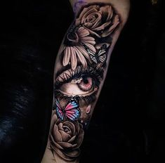 Search inspiration for a Realistic tattoo. Arm Sleeve Tattoos For Women, Unique Half Sleeve Tattoos, Realistic Tattoo Sleeve, Tattoos Realistic, Rose Tattoos For Women, Shoulder Tattoos For Women, Full Sleeve Tattoos, Arm Tattoos For Guys, Girly Tattoos