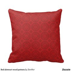 Red abstract wood pattern pillows