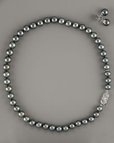MIKIMOTO Special Edition Black South Sea Pearl Set - Neiman Marcus