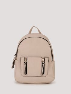 Buy NEW LOOK Zip Pocket Mini Curve Backpack For Women - Women's Brown Backpacks Online in India