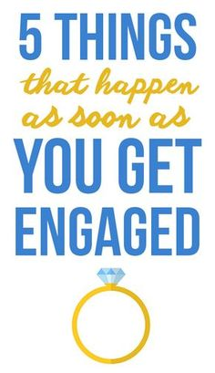 """5 Things You'll Learn As Soon As You Get Engaged! Find out what to expect next after you get engaged, on SHEfinds.com. There are a few things that will happen immediately after you say """"yes""""."""
