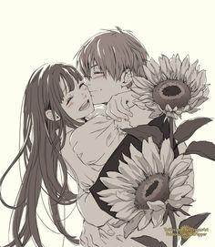 Anime Couples Manga, Cute Anime Couples, Manga Anime, Anime Art, Fruits Basket Manga, The Garden Of Words, Anime Love, Aesthetic Anime, Kawaii Anime
