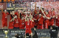 Benfica conquistou, na tarde deste´domingo, a Taça de Portugal da modalidade ao vencer o Sporting. (António Azevedo/ASF)