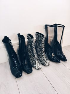 SHOP | Patent Heeled Ankle Boots