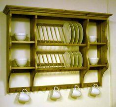 Google Image Result for //.winkleighpinefurniture.co.uk/gallery-pics/wall-mounted-plate-rack .jpg & Stroud Oak plate rack - £276 | kitchens | Pinterest | Plate racks ...