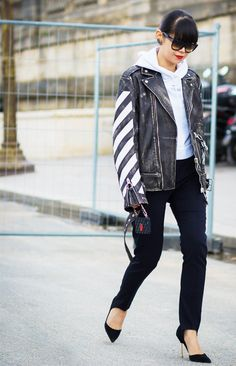 How to Wear a Hoodie and Still Look Like You Tried via @WhoWhatWear