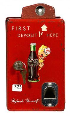 """Vintage Coca Cola Coin Box - 10"""" X 5 1/2"""""""