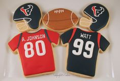 Houston Texans football cookies http://www.ladybug650.etsy.com/