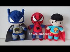 super heroes amigurumi tutorial - YouTube