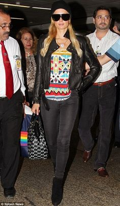 Paris Hilton (sporting Mike & Chris jacket)  http://www.ortutraders.com/mike-chris/