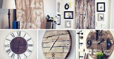 Make your own DIY rustic wall clock using just a few supplies! You can build your own creative and customized clock that will keep you on time. Farmhouse Clocks, Rustic Wall Clocks, Wooden Clock, Rustic Walls, Make A Clock, Diy Clock, Clock Ideas, Diy Home Projects Easy, Wood Projects
