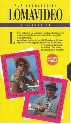Aika ennen Youtube -videoita, Heikki ja Satu esittelivät Aurinkomatkojen kesän -93 matkoja VHS-kasetilla.