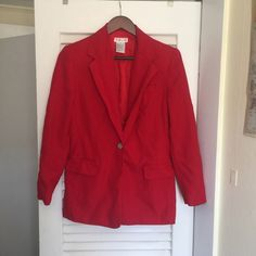 UNREAL TALBOTS RED BLAZER Unbelievable so gorgeous on! Talbots Jackets & Coats Blazers
