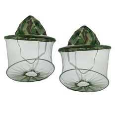 2PC Outdoor Summer Net Mesh Face Protector Cap Insect Bee Mosquito Resistance Sun Fish Hat #20