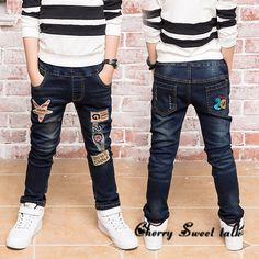 Boy's embroidered jeans.  jeans boy for children wear fashionable style and high quality kids jeans, boys jeans 2-14 years