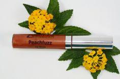 Peachfuzz Lip Gloss. Peachfuzz is a warm shade of orange with a peach undertone. Matches our Peachfuzz Lip & Cheek Tint, Lip Pencil, and Lipstick. $16 #ecofriendly #organic #handmade #makeup #beauty #crueltyfree #vegan