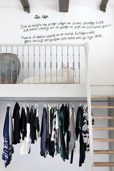 Amsterdam next - Interior Design City Guide: Sukha Amsterdam- concept store Walking Closet, Loft Spaces, Small Spaces, Living Spaces, Interior Architecture, Interior And Exterior, Retail Design, Interiores Design, Decoration