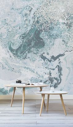 Marbleised Perfection. These texture wallpapers feature mesmerising swirls of colour, adding interest and character to your walls. These wallpapers make for a beautiful backdrop to any occasion and home!